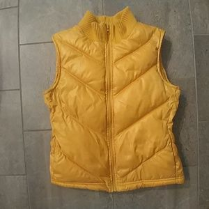 Old Navy Yellow Puffer Vest XS